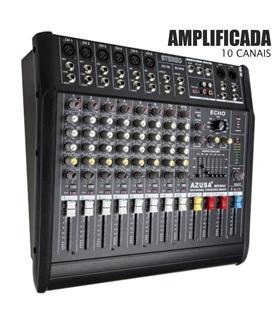 Mesa da Mistura Amplificada 10 Canais 2x250W - PMQ2110-10CH