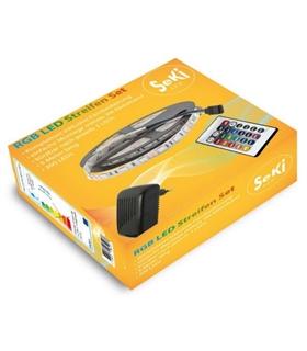 Kit Fita 300 LEDS RGB 12V 5mt + Fonte + Comando - MX3063144