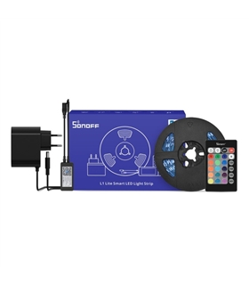 L1LITE-5M - Fita 150 LED RGB + Controlador + Fonte SONOFF - L1LITE-5M