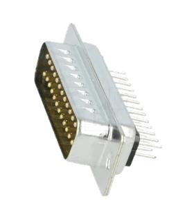 Conector Sub-D, Macho, 25 Pinos, PCB 180º - 69D25PMCI