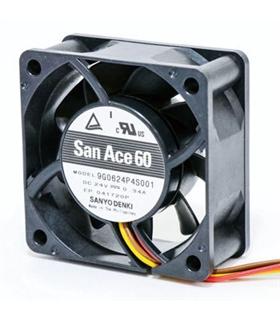 109P0424G601 - Ventilador 24Vdc 40x40x20mm 3.6W 3 Fios - 109P0424G601