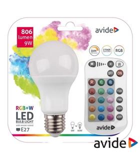 Lampada LED E27 230V 9W RGB+W - ASG27RGBW9WRC