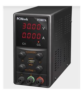 PCW07A - Fonte Alimentacao Bancada, 0-30V, 5A, USB - PCW07A