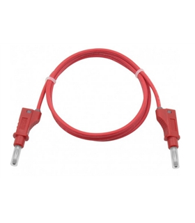2120 - Cabo Banana 4mm, Silicone, 1m, Vermelho - DN2120