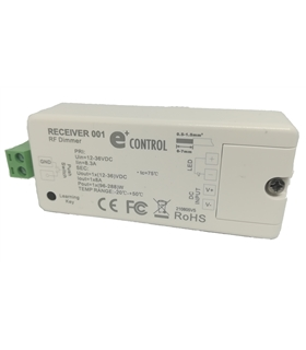 Receiver 001 - RF/Push-Dim 12-36VDC 1x8A 96W-288W IP20 - RECEIVER001